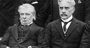 Former British prime minister David Lloyd-George (left) pictured with Canadian premier Sir Robert Laird Borden