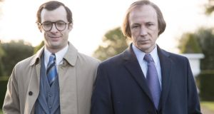 Citizen Charlie: Tom Vaughan-Lawlor as PJ Mara and Aidan Gillen as Charles Haughey in the RTÉ series due to air early in 2015