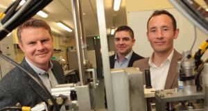 Embo Medical co-founders Wayne Allen, Colin Forde and Liam Mullins. photograph: aengus mc mahon