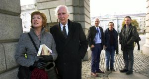 Karl Miller  at an event in   Trinity College Dublin with novelists Janice Galloway,  Ron Butlin and  Alan Spence and poet Robin Robertson. Photograph: Bryan O'Brien