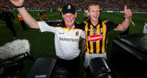 Brian Cody and Henry Shefflin celebrate another  All-Ireland triupmh after the victory over Tipperary at Croke Park. It was Shefflin's tenth winner'smedal as a player and Cody's tenth success as manager. Photo: James Crombie/Inpho