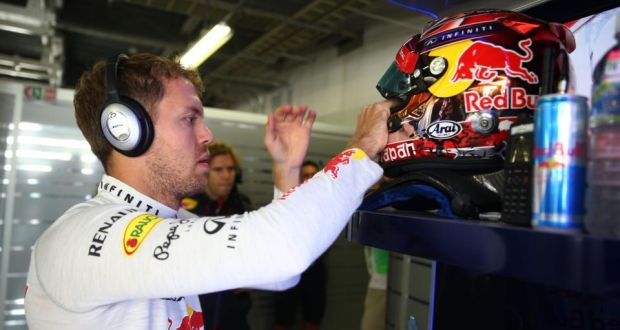 2e10beac Sebastian Vettel of Germany is to hang up his Red Bull helmet at the end of