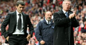 Former Sunderland manager Roy Keane back at Old Trafford. 'Ferguson never turned up. I thought that was out of order. He called me a few days later to apologise.' Photograph: PA Wire