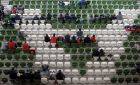 A view of empty seats at the Aviva during a Republic of Ireland friendly game against Greece. Photograph: Donall Farmer/Inpho