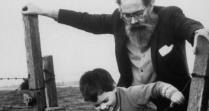 Poet John Berryman with four year old daughter.  (Photo by Terrence Spencer/The LIFE Picture Collection/Getty Images)