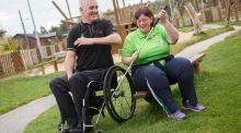 Garrett Culleton, Laois Sports Partnership and Paralympian Ailish Dunne. Photograph: Jeff Harvey/HR Photo