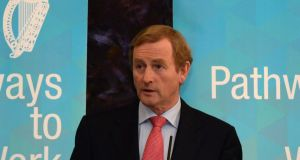"Taoiseach Enda Kenny has claimed  the country was now in ""a different space"" from the situation a few years ago, when unemployment and interest rates soared as 250,000 lost their jobs.  Photograph: Cyril Byrne/The Irish Times"
