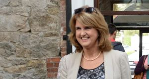 Tánaiste and Minister for Social Protection Joan Burton said gardaí dealing with water meter protesters 'have acted with extraordinary patience, firmness and courtesy to people who have been giving them an extremely difficult and hard time'. Photograph: Dara Mac Donaill / The Irish Times
