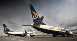 Ryanair, one of the weightiest stocks on the Iseq, contributed to yesterday's decline by falling 2.37 per cent to close at €6.82. Photograph: Simon Dawson/Bloomberg