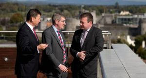 Ken Burke, head of business banking AIB; Donal McManus, executive director ICSH and Minister for the Environment, Community and Local Government Alan Kelly at the Irish Council for Social Housing  in Limerick.