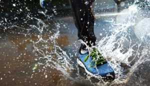 The first rule of committed running is to run whatever the weather conditions. Photograph: Getty Images