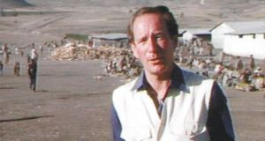Powerful: Michael Buerk reports from Ethiopia for the BBC in 1984