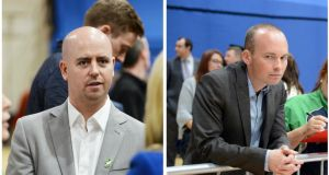 Sinn Féin's Cathal King (left) came runner up to Anti-Austerity Alliance candidate Paul Murphy  in the Dublin South West byelection. Photographs: Alan Betson and Eric Luke/The Irish Times.