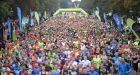 Runners cross the starting line of the Dublin half marathon in the Phoenix Park,  Dublin on September 20th. Photograph: Pat Murphy/Sportsfile