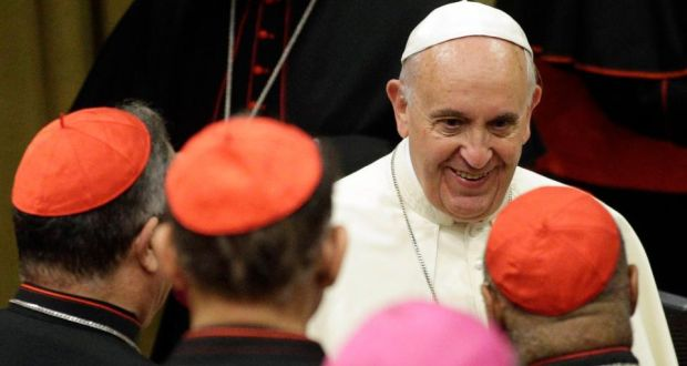 Pope Francis said last week that bishops should speak frankly and not be afraid of upsetting him at the extraordinary synod on the family, which  is discussing marriage, gay couples, birth control and other moral issues. Photograph: Max Rossi/Reuters
