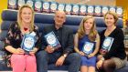 Sarah Webb, Roddy Doyle, Emma Brade and Niamh Sharkey at the launch of Beyond the Stars