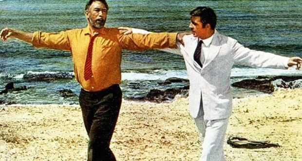 Greek writers we need to know: Nikos Kazantzakis. Almost everyone has heard of his 'Zorba the Greek' perhaps because of the film (pictured).