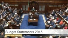 The highlights from  Minister for Finance Michael Noonan's Budget 2015 speech.