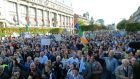 The anti-water charges protest march at the weekend. Photograph: Eric Luke