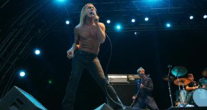 Veteran rocker Iggy Pop in action during his 2008 concert at the Royal Hospital Kilmainham Dublin. Photograph: Bryan O'Brien/The Irish Times
