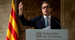 The objective is the same, to hold a referendum, but in a different way, says the president of Catalonia Artur Mas. Photograph: David Ramos/Getty Images