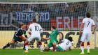 John O'Shea scores a stoppage time equaliser against Germany  in Gelsenkirchen. Photograph: Alex Grimm/Bongarts/Getty Images