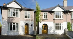 Right: 119 Mount Prospect Ave, Clontarf, Dublin 3 is a recently refurbished four-bed asking €730,000 through DNG, while 119A (left) is a four-bed newly built in the former garden of Number 119. It's the larger of the two and is priced at €810,000