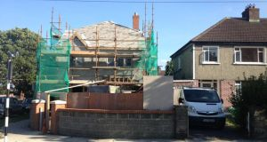 After: a  property under construction on the side garden of a house in Drummartin Park in Kilmacud, Dublin 14.