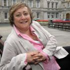 Miriam Lord outside Leinster House, where she has worked for 'The Irish Times' since 2006. Photograph: Matt Kavanagh