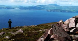 Rising sheer out of Dingle Bay, Cnoc na dTobar is one of the most impressive mountains in the Iveragh peninsula