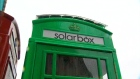 London's red telephone box goes green
