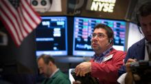 New data indicating strength in the US economy helped major US, European and pan-world stock indexes to pare losses. Photograph: Reuters