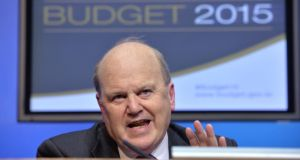 "Minister for Finance Michael Noonan abolished the ""Double Irish"" loophole in the budget. Photograph: Alan Betson"