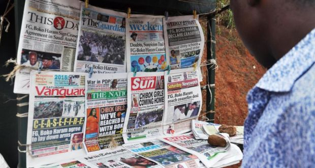 Image result for Nigerian Newspapers