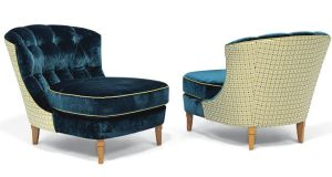 A pair of Pierre Paulin 'ribbon' lounge chairs 1966 (estimate: £2,000-£3,000)