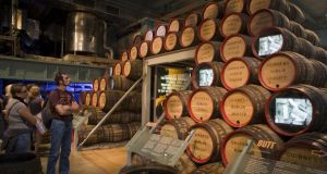 Barrels at cooperage display at the Guinness Storehouse brewery. Photograph: Lonely Planet