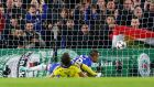 Chelsea's John Terry scores a goal   against Maribor at Stamford Bridge. Photograph: Andrew Winning / Reuters