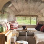 Clever seating maximises space in a Winnebago