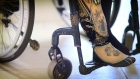 Louise Bruton has had 8 prosthetic limbs since having her right foot amputated. She has just had a unique limb created for her featuring diamond style adornments, tattoos and a timepiece. She calls her new leg 'Priscilla'. Video: Bryan O'Brien