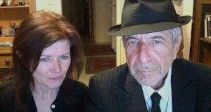 Sylvie Simmons with Leonard Cohen