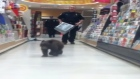 Shoppers in a pharmacy in Oregon were shocked to find a 6-month-old black bear cub wandering the aisles with them. Video: Reuters