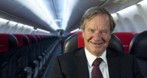Bjorn Kjos, chief executive of Norwegian Air Shuttle. The airline has been seeking to launch a low-cost transatlantic route via the Republic