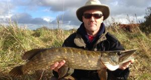 Godfrey Donohue with a pike caught during the Dublin Pike Anglers' winter league competition