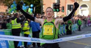 Sean Hehir, winner of last year's men's race, was the first Irishman to win the marathon in 20 years. File Photograph: Eric Luke/The Irish Times