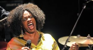 Grammy winner Dianne Reeves pictured performing in the Everyman Palace during the Guinness Cork Jazz Festival. Photograph: Daragh Mc Sweeney/Provision