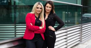 Louise Dunne and Niamh McHugh of Pucker: their app books beauty appointments with freelance professionals.