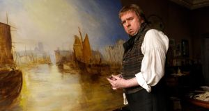 Timothy Spall as JMW Turner in Mike Leigh's . Photo by Simon Mein, Courtesy of Sony Pictures Classics