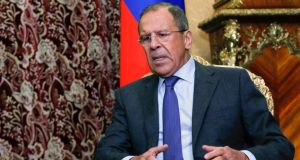 Russia's foreign minister Sergei Lavrov said elections being organised by the self-proclaimed Donetsk and Luhansk 'people's republics' would be recognised. Photograph: Maxim Shemetov/Reuters
