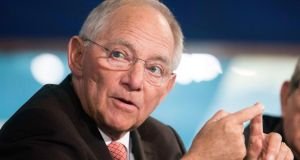 Germany's finance minister, Wolfgang Schäuble: in Dublin tomorrow. Photograph: Joshua Roberts/Reuters