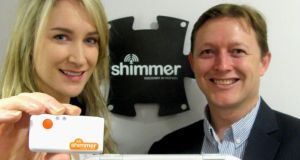 Martina Donohue, marketing executive, and Paul Doherty, vice-president of sales, with the Shimmer3 platinum development kit